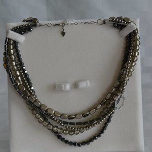 Silpada Hematite Sterling 5 Strand Necklace